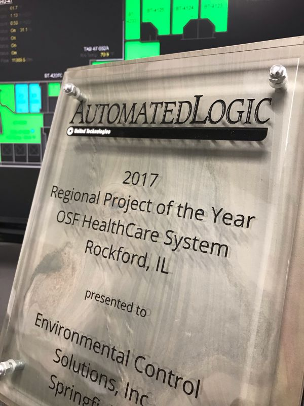 Winner of Automated Logic's Regional Project of the Year